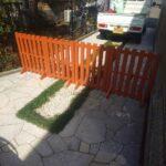 施工ペットフェンス1|稲葉造園