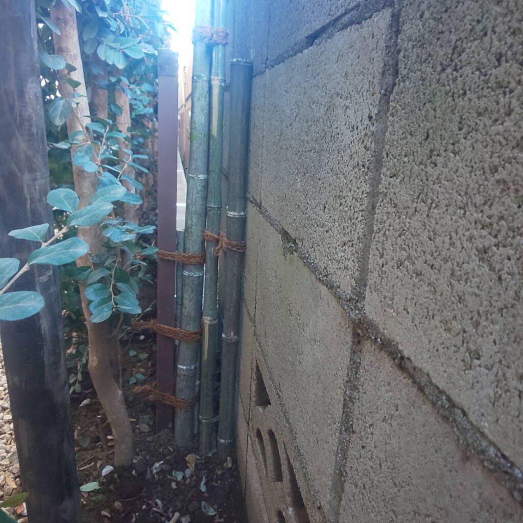 施工フェンス設置3|稲葉造園