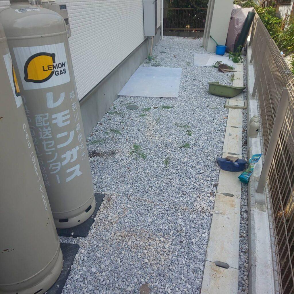施工事例_202104防草シート02-1|稲葉造園