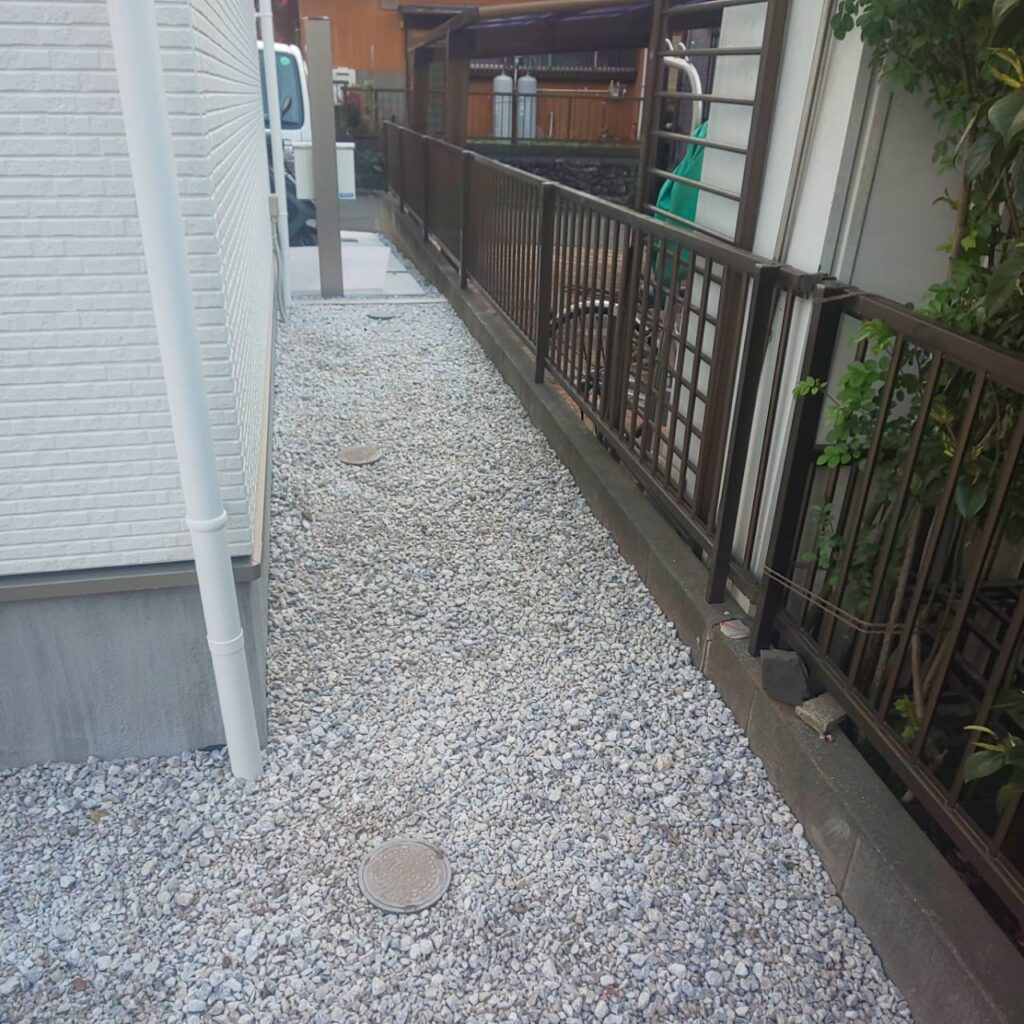 施工事例_202104防草シート04-2|稲葉造園