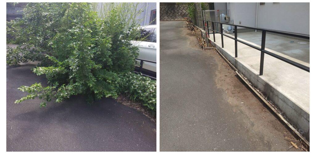 202105駐車場02|稲葉造園