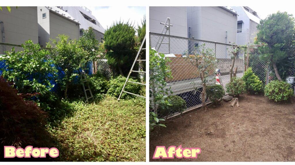 202106マンション1階庭植栽管理02 稲葉造園
